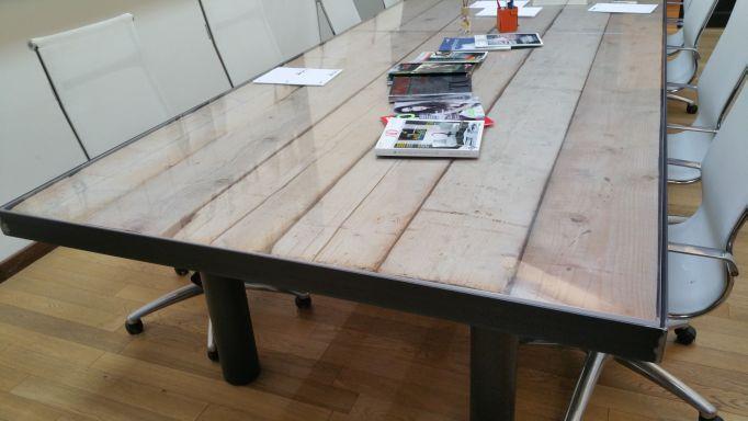 Tavolo In Ferro Brunito E Legno : Tavolo legno nero. st tavolo di design allungabile in legno e